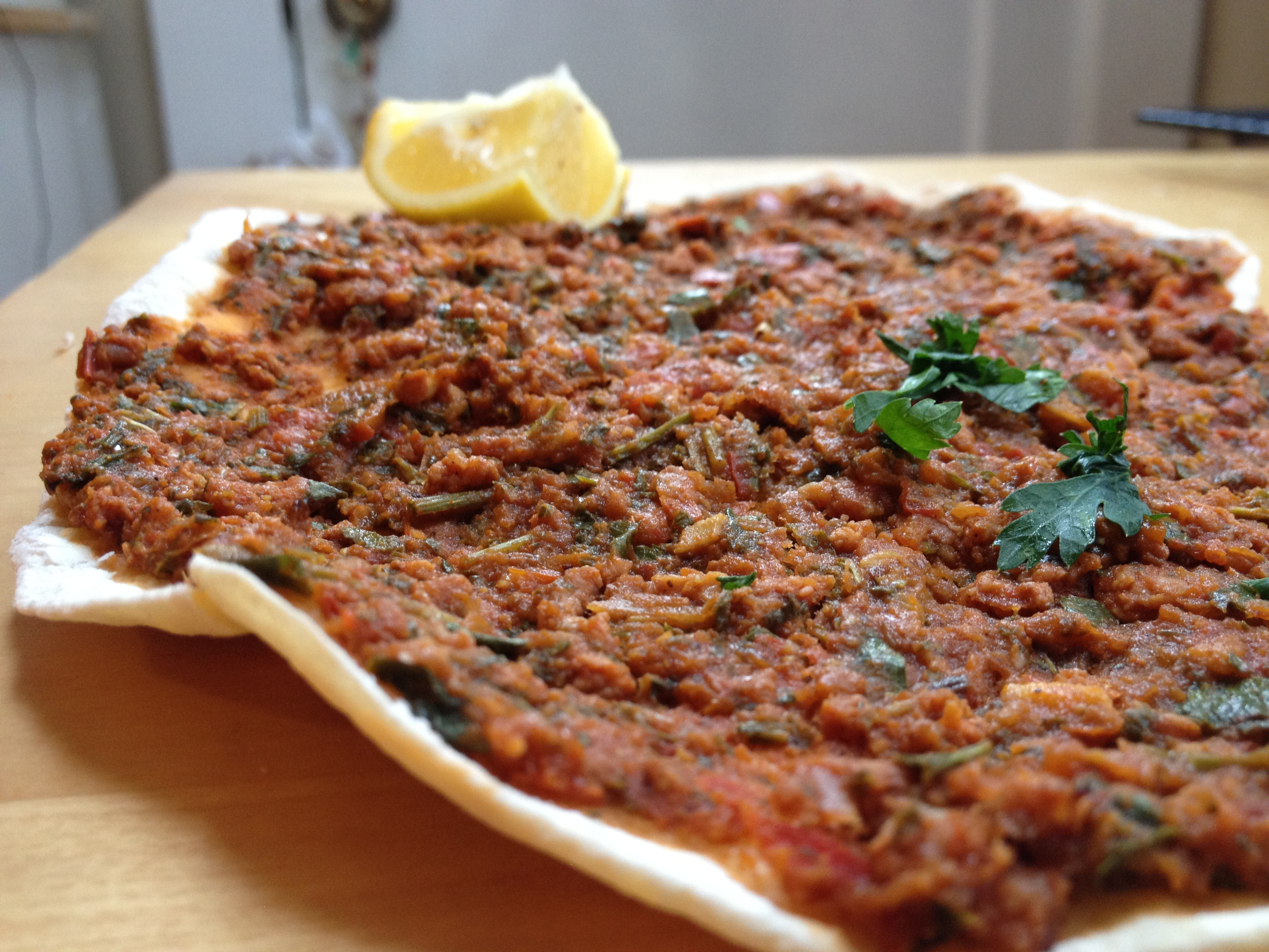 Gluten-Free Lahmajoun –– Armenian or Turkish lamb pizza ...